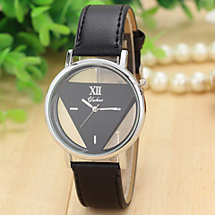 2 Colors Triangle Pattern yahao Quartz Watch Women Dress Leather Strap Wrist Watch Relogio Feminino Cool Watches Unique Watches