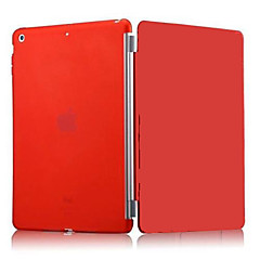 df ensfarget auto sleep / wake up pu sammenleggbar sak for ipad 2/3/4 (assorterte farger)