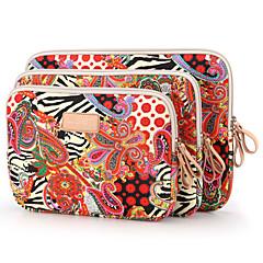 tendance nationale grosse douille rouge portable de fleurs pour iPad 10 pouces 11 pouces de sac d'ordinateur portable 12 pouces