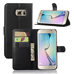 личи зерна флип кожаный бумажник случай стоять крышку для Samsung Galaxy S6 край плюс / S6 край / S6 / S5 / S4 / S3