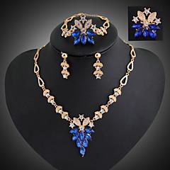 Women Vintage / Party / Casual Alloy / Gemstone & Crystal / Cubic Zirconia Necklace / Earrings / Bracelet / Ring Sets/Flower Brooch