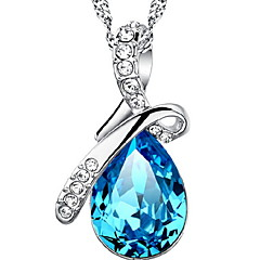 WH Woman Angel Tear drop-shaped Necklace