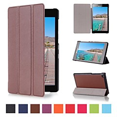 7 Inch Triple Folding Pattern High Quality PU Leather for Lenovo TAB2 A7-20F(Assorted Colors)