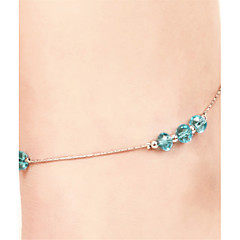 Vilam® Bohemien Ankle Bracelet Bead Chain Single Layer Silver Matt Beads Beach Anklet Foot Jewelry
