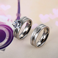 European and American fashion diamond couple rings Series 3 Couple Rings Wedding/Party/Daily/Casual 2pcs