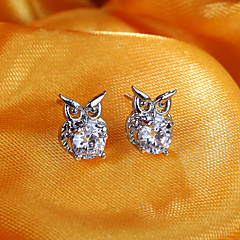 European And American Fashion Owl Diamond Earrings  Stud Earrings Wedding/Party/Daily/Casual 2pcs