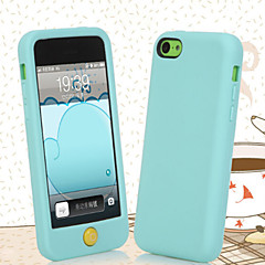 slik-farvet kantning silikone materiale telefon Case for iPhone 5c (assorterede farver)