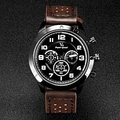 V6 Męskie Zegarek na nadgarstek Kwarcowy Kwarc japoński Skóra Pasmo Czarny Brązowy Khaki White Black Brown Khaki Black/Blue