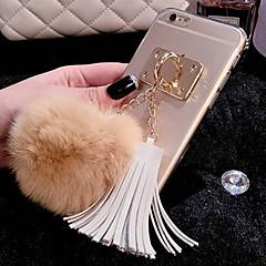 iphone 7 oraz luksusowe rabbit włosów Piłka pomponem wisiorek przypadki TPU dla iphone6 6s / iPhone