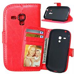 ארנק עור PU באיכות גבוהה מקרה נרתיק לטלפון נייד למיני S5 הגלקסיה מיני / S4 מיני / S3 / S4 / S3 (צבע שונים)