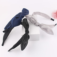 Silk Mesh Rabbit Ears Knot Head Band
