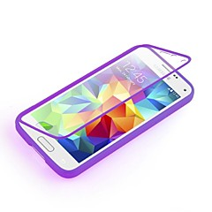 For Samsung Galaxy Case Transparent Case Full Body Case Solid Color TPU Samsung S5