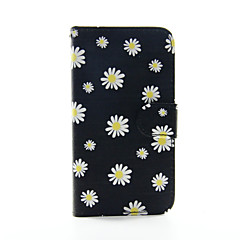 krysantemum mønster pu læder telefon etui til Samsung Galaxy S3 9300 / s4 9500 / s5 9600