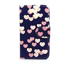 Varten Nokia kotelo Lomapkko / Korttikotelo / Tuella Etui Kokonaan peittävä Etui Sydän Kova Tekonahka Nokia Nokia Lumia 635