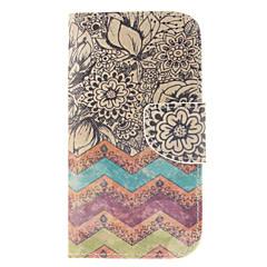 For Samsung Galaxy etui Pung Kortholder Med stativ Flip Etui Heldækkende Etui Linjeret / bølget Kunstlæder for Samsung S3
