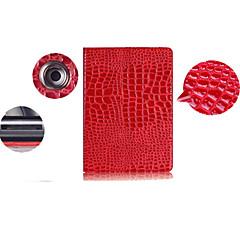 ensfarvet krokodilleskind mønster pu læderetui cover til iPad 2/3/4 (assorterede farver)
