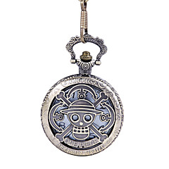 Simple Style Oval Shape Alloy Pocket Watch Key Chain(Bronze)(1Pc)