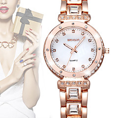 WEIQIN® Brand Luxury Women Watch Crystal Diamond Rhinestone Fashion Watches Rose Gold Quartz Dress Wristwatch