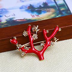 rød wintersweet broche