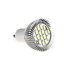 8W GU10 650LM 16xsmd5630 luz blanca caliente / frío llevó el bulbo de la luz del proyector (ac85-265v)