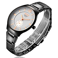 Men's  Watch BOSCK With Ultra-Thin Black Tungsten Alloy Waterproof Quartz Watch