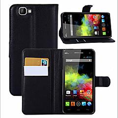 manga de protecção do titular lichia grão para Wiko telefone móvel do arco-íris