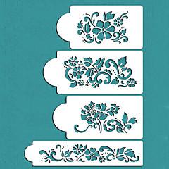 στένσιλ σχεδιασμό δώρο λουλούδια τούρτα διακόσμηση του Αγίου Βαλεντίνου, ST-228