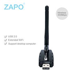 w60 (2db antenne) type de mur à haute puissance 300m usb émetteur de carte de réseau sans fil