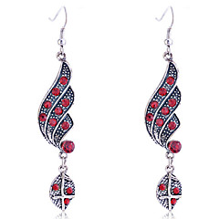 European Style Retro Drill Water Drop Alloy Drop Earrings