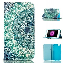 For iPhone 6 Case / iPhone 6 Plus Case Card Holder / Wallet / with Stand / Flip / Pattern Case Full Body Case Mandala Hard PU Leather
