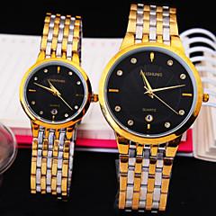 la vie de quartz ultra-mince affaires simple civile bracelet de mode cadran de diamant d'acier rond de couple montre étanche