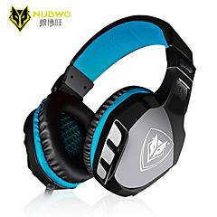 nubwo pas-3000 casque pc de bureau de jeu un casque jeu de casque avec microphone voix