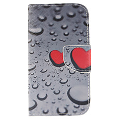 Na Samsung Galaxy Etui Portfel / Etui na karty / Z podpórką / Flip Kılıf Futerał Kılıf Serce Skóra PU Samsung S3
