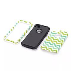 κύμα μοτίβο υψηλής ποιότητας Snap-on PC + σιλικόνη υβριδικό σύνθετο πανοπλία κάλυψη περίπτωσης για το iphone 5γ (διάφορα χρώματα)