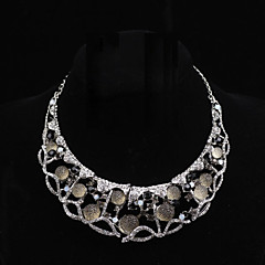 Elgant Platinum Plated With Stones Necklace