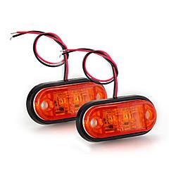 2 x auto auto perävaunu piraija johti sivuvalo hätävilkut valo lampun keltainen