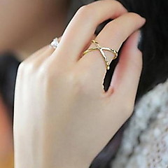 X Cross-dimensional Hollow Joints Finger Ring