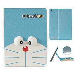 Large Cat Pattern Stereo Eye Stent Case for iPad Air