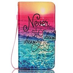 Voor Samsung Galaxy Note 5 notitie 4 case cover kaarthouder portemonnee met tribune flip patroon volledige body case woord / zin hard pu