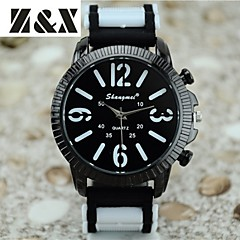Men's Fashion Personality Quartz Analog Silicone Watch(Assorted Colors)