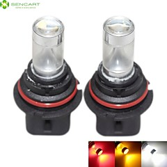 2 x 9007 HB5 PX29T 30W 6xCREE White/Red/Yellow/Cold White 2100LM 6500K for Car Fog Light / daytime running lights 12-24V