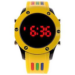 Herren Armbanduhr digital LED Caucho Band Weiß / Blau / Rot / Orange / Grün / Rosa Marke-