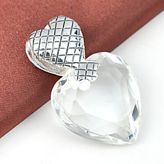 Męskie Damskie Breloczki Kamień szlachetny Posrebrzany Topaz Heart Shape Serce Biżuteria Ślub Impreza Codzienny Casual Sport 1szt