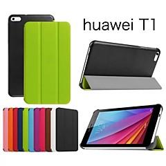 beschermende tablet gevallen leder gevallen beugel holster voor Huawei Media Pad T1 7.0