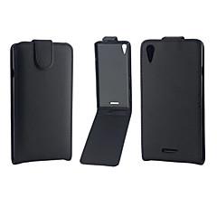 Για Θήκη Sony / Xperia Z5 / Xperia Z3 Ανοιγόμενη tok Πλήρης κάλυψη tok Μονόχρωμη Σκληρή Συνθετικό δέρμα για SonySony Xperia Z5 / Sony