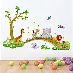 애니멀 카툰 정물화 벽 스티커 플레인 월스티커 데코레이티브 월 스티커,비닐 자료 이동가능 홈 장식 벽 데칼