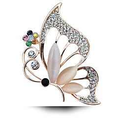 Az új all-mérkőzés opál pillangó bross