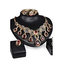 May Polly  Europe and the hot blast of high-grade diamond necklace earrings ring bracelet set