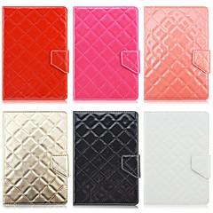 padrão de losango de alta qualidade de couro pu com suporte para o caso tablet de 7 polegadas universal