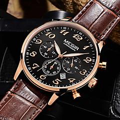 homens megir ™ 2015 relógios de quartzo nova moda relógio de luxo marcas esportivas& relógios ao ar livre